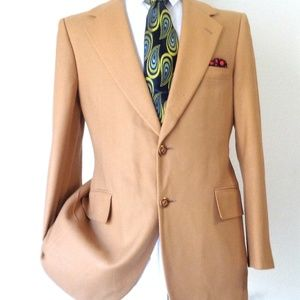 100% CASHMERE LEBOW CLOTHES MENS SPORTS JACKET